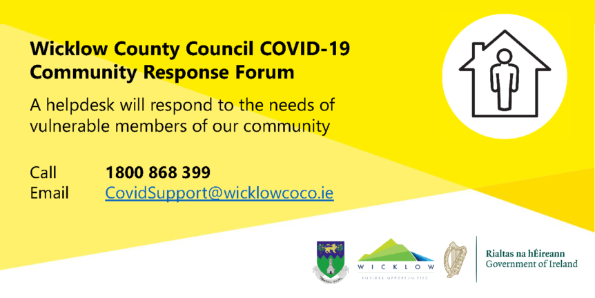 Wicklow Council COVID 19 Response Forum Poster