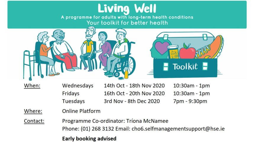 Living Well course poster