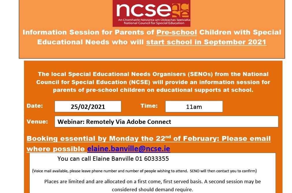 NCSE webinar poster