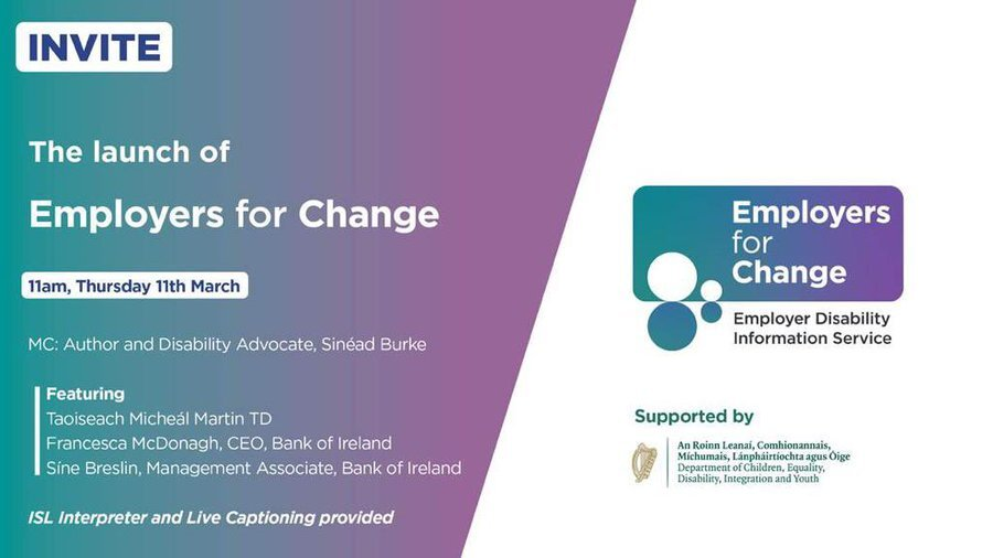Employers for Change launch invite