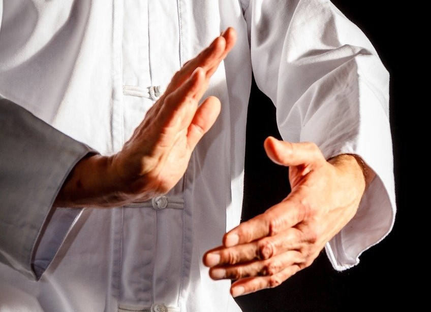 Photo of hands of person doing Tai Chi