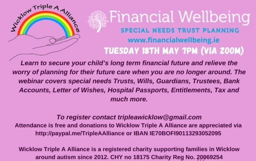 Financial Wellbeing webinar flyer