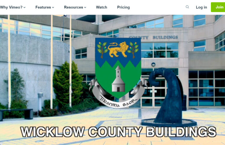 Still of Wicklow County Council video