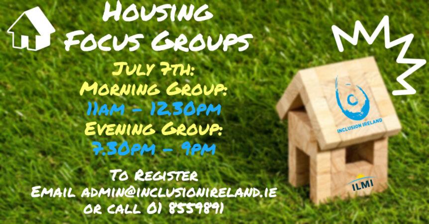 Housing Focus Group flyer