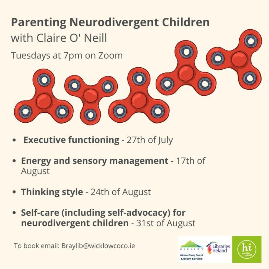 Parenging Neurodivergent Children talks poster