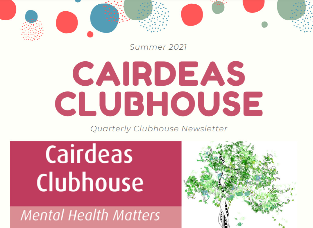 Cairdeas Clubhouse Summer 2021 newsletter front page