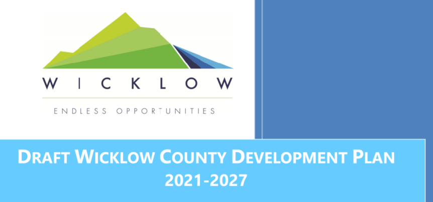 Cover of draft County Wicklow Development Plan