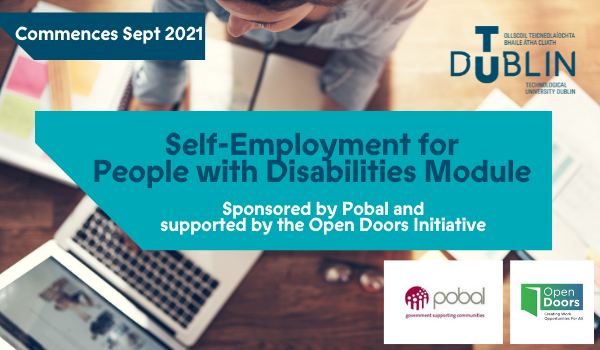Self-employment for people with disabilities poster