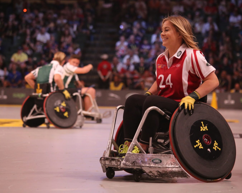 Photo of wheelchair user sportswoman